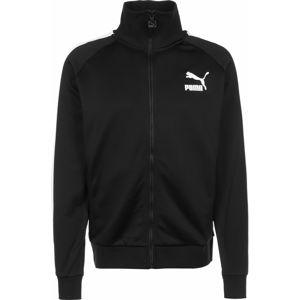 PUMA Sportovní bunda 'Iconic T7 '  bílá / černá
