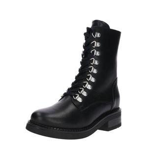 Zign Šněrovací boty '16322-BL733'  černá / stříbrná