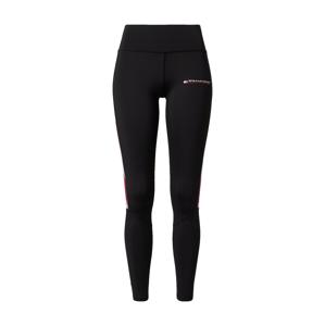Tommy Sport Sportovní kalhoty  černá / červená