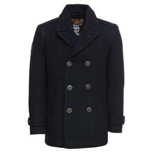 Superdry Zimní kabát 'NEW MERCHANT PEA COAT'  námořnická modř