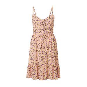 Trendyol Letní šaty  pink / žlutá / tmavě hnědá