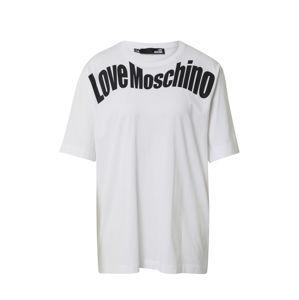 Love Moschino Tričko  bílá / černá