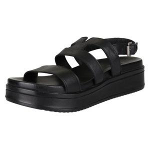 SHABBIES AMSTERDAM Páskové sandály  černá