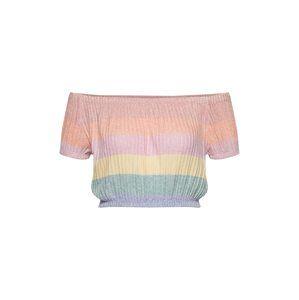 NEW LOOK Tričko  světle žlutá / pastelově zelená / růžová