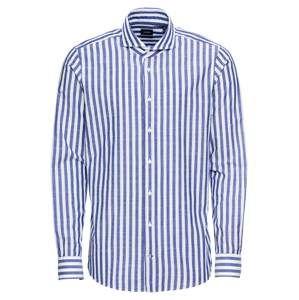 JOOP! Košile  tmavě modrá / bílá