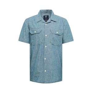 GAP Košile 'SS CHAMBRAY CAMP BLUE'  modrá
