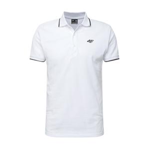 4F Funkční tričko  bílá / černá