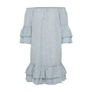 ONLY Šaty 'CECILIA'  modrá / bílá