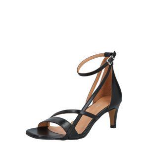 Shoe The Bear Páskové sandály 'ROSANA'  černá