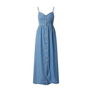 ONLY Letní šaty 'ONLCUMA LIFE SL BTN DWN LONG S DNM DRESS'  modrá džínovina