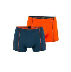 SCHIESSER Boxerky  modrá / tmavě oranžová