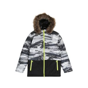 NAME IT Zimní bunda  černá / šedá