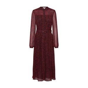 Whistles Košilové šaty 'MINI IKAT'  černá / oranžově červená