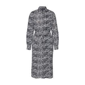 VERO MODA Košilové šaty 'VMTRUDY LS SHIRT DRESS LCS'  bílá / černá