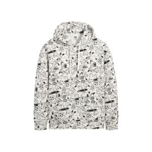 LEVI'S Mikina 'T3 RELAXD GRAPHIC HOODIE'  mix barev / bílá