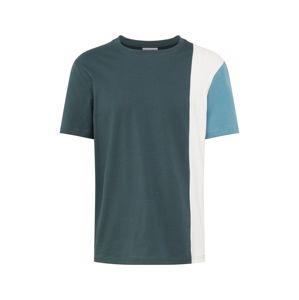 ARMEDANGELS Tričko 'ADO'  bílá / kouřově modrá / smaragdová