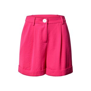 Miss Selfridge Kalhoty se sklady v pase 'Hot Pink Button Short'  pink