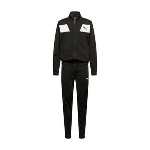 PUMA Sportovní souprava 'Techstripe Tricot Suit CL'  černá / bílá