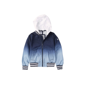 Abercrombie & Fitch Přechodná bunda  modrá / noční modrá / světlemodrá / bílá