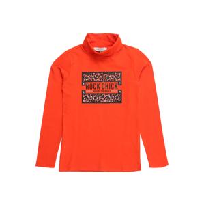Cars Jeans Tričko 'CHAREE'  černá / tmavě oranžová