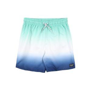 Abercrombie & Fitch Plavecké šortky  zelená / bílá / modrá