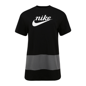 Nike Sportswear Šaty  černá / bílá / šedá