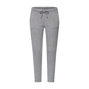 TOM TAILOR Kalhoty s puky  světle šedá / černá