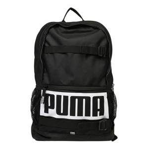 PUMA Sportovní batoh 'Deck'  černá / bílá