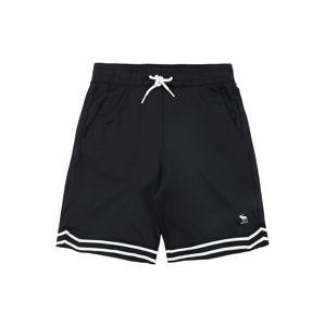 Abercrombie & Fitch Kalhoty  bílá / černá