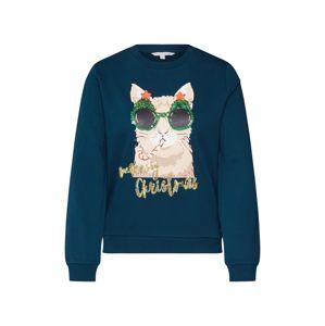 TOM TAILOR DENIM Mikina 'christmas sweatshirt'  jedle / mix barev