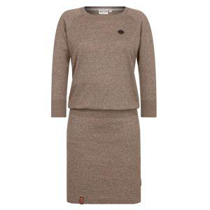 Naketano Úpletové šaty  hnědý melír