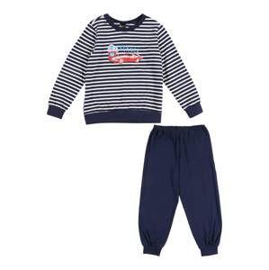 SCHIESSER Pyžamo  námořnická modř / mix barev / bílá