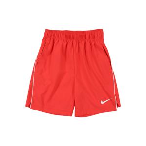 NIKE Sportovní kalhoty  bílá / světle červená