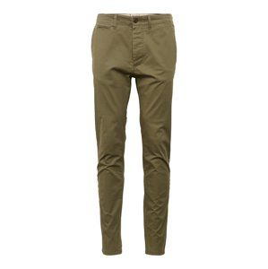 JACK & JONES Chino kalhoty 'JJIMARCO JJENZO O NIGHT WW 420 NOOS'  olivová