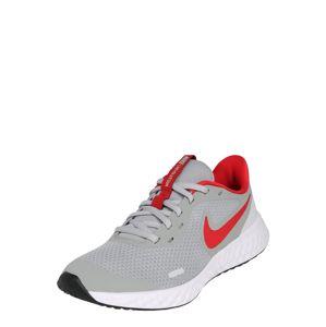 NIKE Sportovní boty 'Revolution 5'  červená / světle šedá / bílá