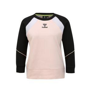 Hummel Sportovní mikina 'hmlNIRVANA SWEATS'  černá / růžová
