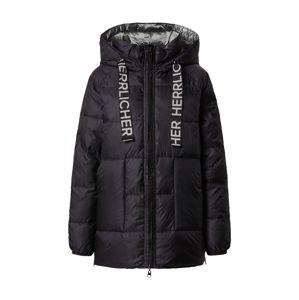 Herrlicher Zimní bunda 'Tola'  černá / stříbrná