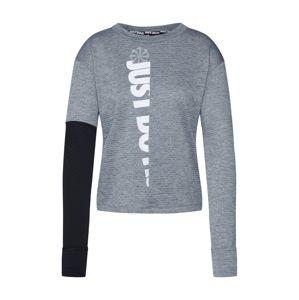 NIKE Funkční tričko 'Therma Sphere'  bílá / šedá / černá