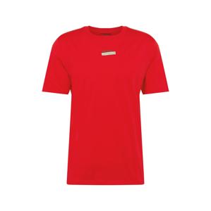 HUGO Tričko 'Durned'  červená / stříbrně šedá / zelená