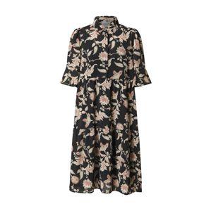 SECOND FEMALE Košilové šaty 'Neo'  béžová / černá