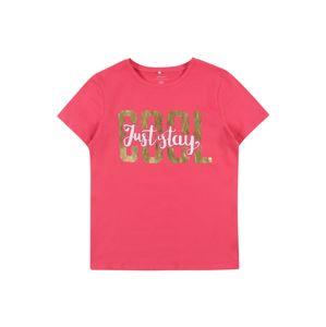 NAME IT Tričko  svítivě růžová / zlatá