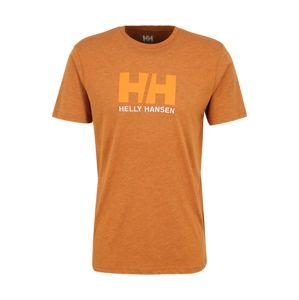 HELLY HANSEN Funkční tričko 'HH LOGO'  oranžová / světle hnědá