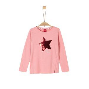 S.Oliver Junior Tričko  světle růžová / červená / stříbrná