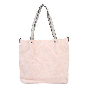 Emily & Noah Nákupní taška 'Surprise'  světle šedá / růžová