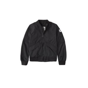 Abercrombie & Fitch Přechodná bunda  černá / bílá