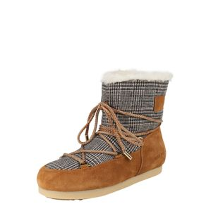 MOON BOOT Sněhule 'MB FAR SIDE LOW FUR/TARTAN'  hnědá