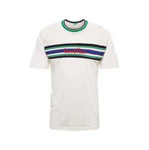 UNITED COLORS OF BENETTON Tričko  námořnická modř / zelená / červená / bílá
