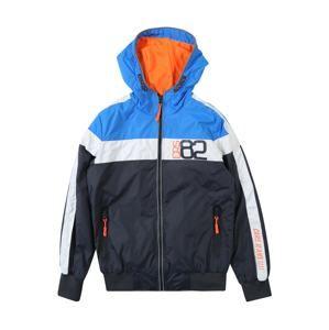 Cars Jeans Přechodná bunda 'BRASH ANTRA'  modrá / šedá / tmavě oranžová
