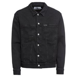 Calvin Klein Jeans Přechodná bunda  černá džínovina