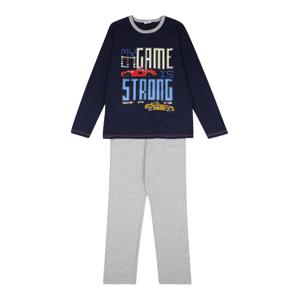 UNITED COLORS OF BENETTON Pyžamo  námořnická modř / šedý melír / bílá / červená / světlemodrá